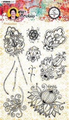 Studio Light Art By Marlene Clear Stamp Artsy Arabia nr.57 STAMPBM57 148x210mm (09-20)