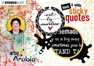 Studio Light Sticker Art By Marlene Quotes Artsy Arabia nr.03 STICKERBM03 (09-20)