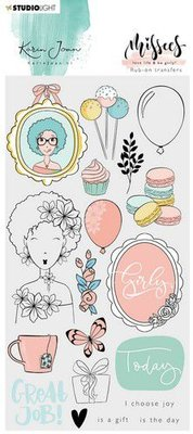Studio Light Rub on Sticker Karin Joan Missees Coll. nr.04 RUBKJ04 (09-20)