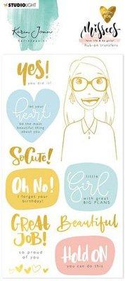 Studio Light Rub on Sticker Karin Joan Missees Coll. nr.03 RUBKJ03 (09-20)