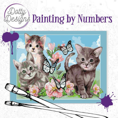 DDP1006 Dotty Design Painting by Numbers - Cats