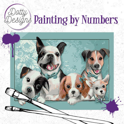 DDP1005 Dotty Design Painting by Numbers - Dogs