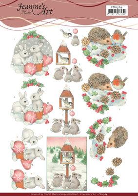 CD11364 3D Cutting Sheet - Jeanine's Art - Hedgehog and Rabbits