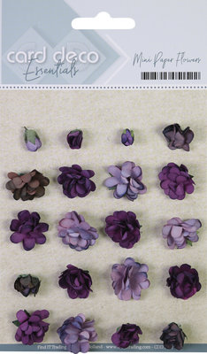 CDEFL002 Card Deco Essentials - Mini Paper Flowers - Purple