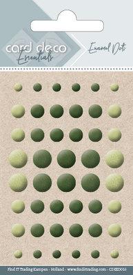 CDEED016 Card Deco Essentials - Enamel Dots Pearl Yellow Green