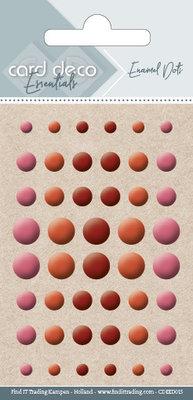 CDEED015 Card Deco Essentials - Enamel Dots Pearl Bordeaux