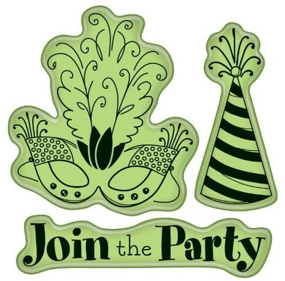 60-60235 Inkadinkoo - Rubber Stamp - Join the Party