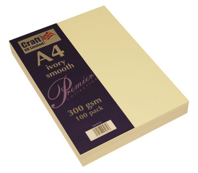 Craft UK Premium Collection A4 Ivory Smooth Paper Pack (CUKW120)