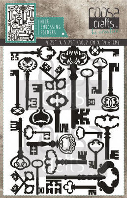 COOSA Crafts Embossing Folder - Keys COC-055