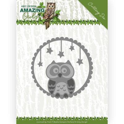 ADD10219 Dies - Amy Design - Amazing Owls - Night Owl 5,5 x 5,5 cm