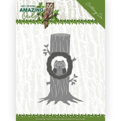 ADD10218 Dies - Amy Design - Amazing Owls - Owl in Tree 7,7 x 12 cm