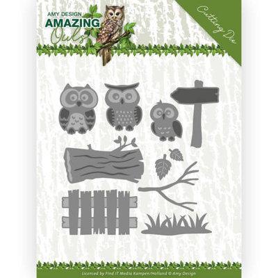 ADD10217 Dies - Amy Design - Amazing Owls - Owl Family 10,5x10,5cm