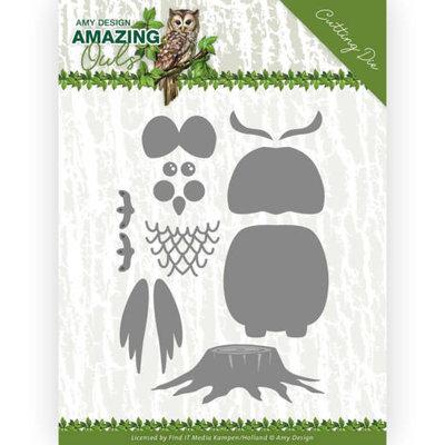 ADD10216 Dies - Amy Design - Amazing Owls - Build up Owl 9,5x14,2cm