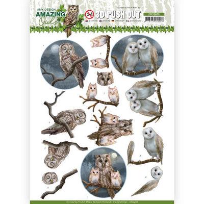 SB10486 3D Push Out - Amy Design - Amazing Owls - Night Owls