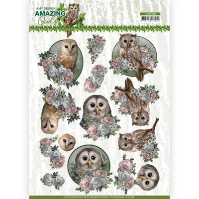 CD11566 3D Cutting Sheet - Amy Design - Amazing Owls - Romantic Owls