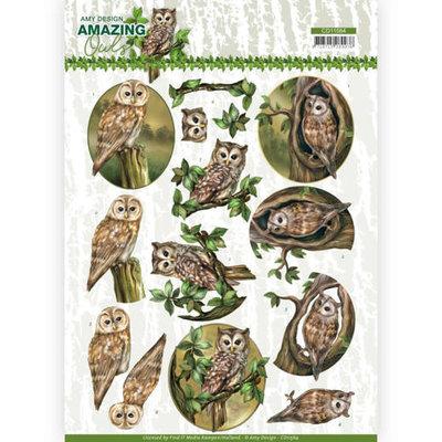 CD11564 3D Cutting Sheet - Amy Design - Amazing Owls - Forest Owls