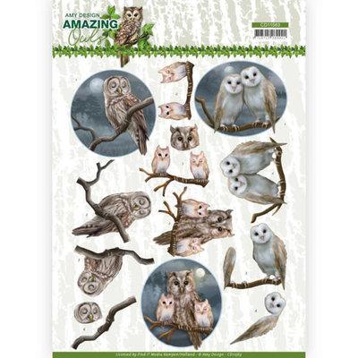 CD11563 3D Cutting Sheet - Amy Design - Amazing Owls - Night Owls