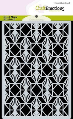 CraftEmotions Mask stencil achtergrond Geometrisch Art Deco A6 A6 (09-20)