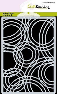 CraftEmotions Mask stencil achtergrond Triple cirkels A6 A6 (09-20)