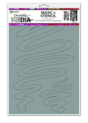 Dina Wakley Media Stencils Meandering Masks MDS74588 Dina Wakley  (09-20)
