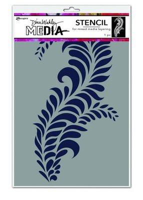 Dina Wakley Media Stencils Giant Flourish MDS74564Dina Wakley  (09-20)