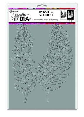 Dina Wakley Media Stencils Curly Frond Mask MDS74540 Dina Wakley  (09-20)