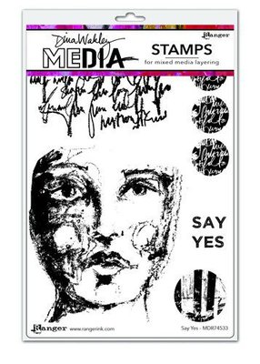 Dina Wakley Media Stamps Say Yes MDR74533Dina Wakley  (09-20)