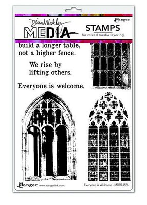 Dina Wakley Media Stamps Everyone Is Welcome MDR74526 Dina Wakley  (09-20)