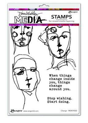 Dina Wakley Media Stamps Change  MDR74502 Dina Wakley  (09-20)