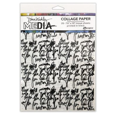 Dina Wakley MEdia Collage Paper Just Words 20vl MDA74618Dina Wakley 7 +AL0-x10+IB0- (09-20)