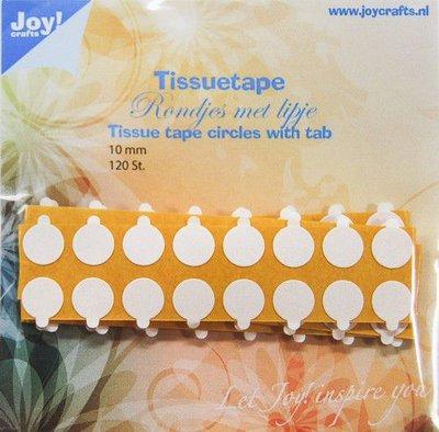 Joy! Crafts Tissuetape-rondjes met treklipje – 10 mm 120st 6500/0104  (10-20)