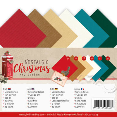 AD-4K-10024 Linen Cardstock Pack - 4K - Amy Design - Nostalgic Christmas