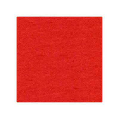 Linnenkarton - Oplegkaartjes - Kerstrood - 12,8cmx12,8cm – 25 vel