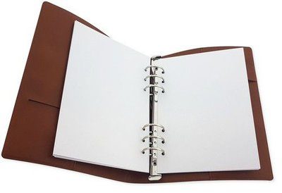 CraftEmotions Ringband Planner - voor papier A5-148x210mm - Cognac bruin PU leather - Paper not included (10-20)