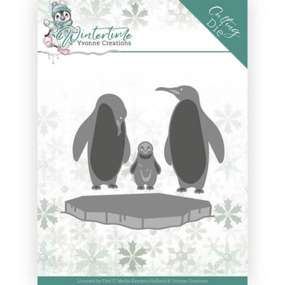 YCD10218 Dies - Yvonne Creations - Winter Time - Penguins on Ice