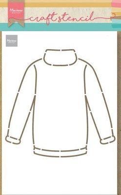 Marianne Design Craft Stencil Craft stencil Sweater PS8076 21x15cm (11-20)