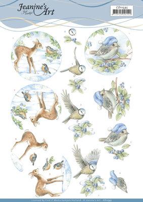 CD11595 3D Cutting Sheet - Jeanine's Art - Winter Woodland
