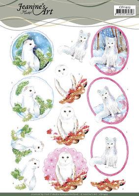 CD11423 3D Cutting Sheet - Jeanine's Art - Winter Animals