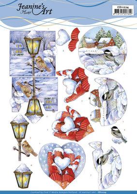 CD11224 3D Cutting Sheet - Jeanine's Art - Winter Scenes
