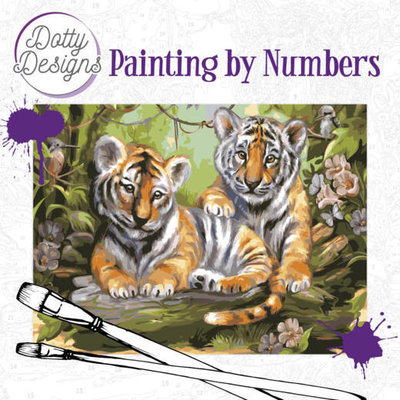 DDP1009 Dotty Design Painting by Numbers - Tigers