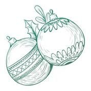 CO726912 Couture Creations Christmas Baubles Mini Stamp 50x50mm
