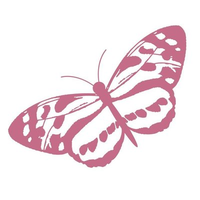 CO727405 Couture Creations Spotted Butterfly Mini Stamp 50x50mm