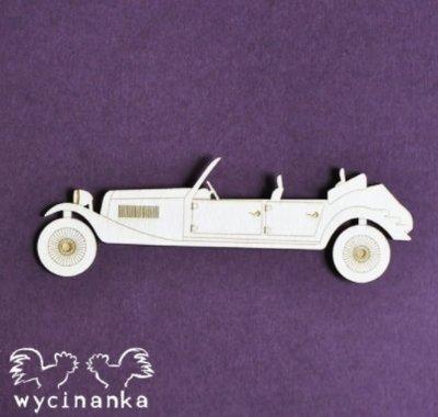 C074 Chipboard - Wycinanka - Auto - 9cm - 1 stuks