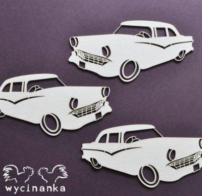 C076 Chipboard - Wycinanka - Auto - 4x8cm - 3 stuks