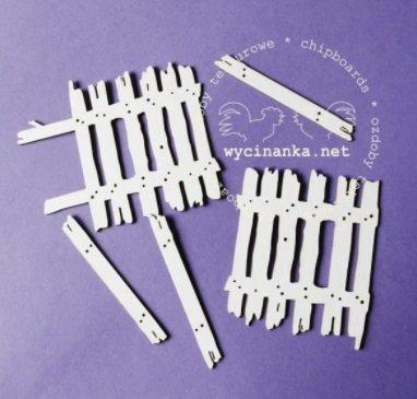 C080 Chipboard - Wycinanka - Hek 6cm - 5 delig
