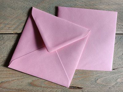 Enveloppen 15,5x15,5cm 120 grams Roze per 10 stuks