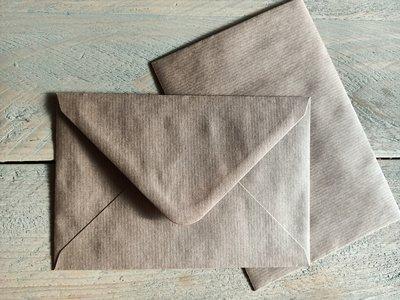 Enveloppen 120 grams kraft 12,5x18,5cm per 10 stuks