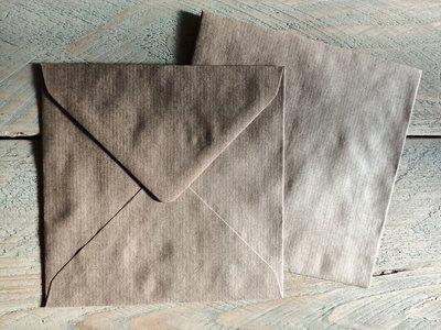 Enveloppen 15,5x15,5cm 120 grams kraft per 10 stuks