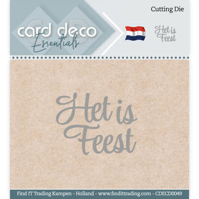 CDECD0049 Card Deco Essentials - Cutting Dies - Het is Feest