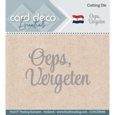 CDECD0048 Card Deco Essentials - Cutting Dies - Oeps, vergeten